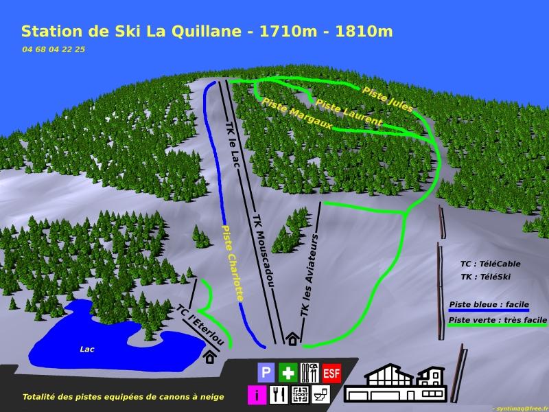 Plan des pistes La Quillane